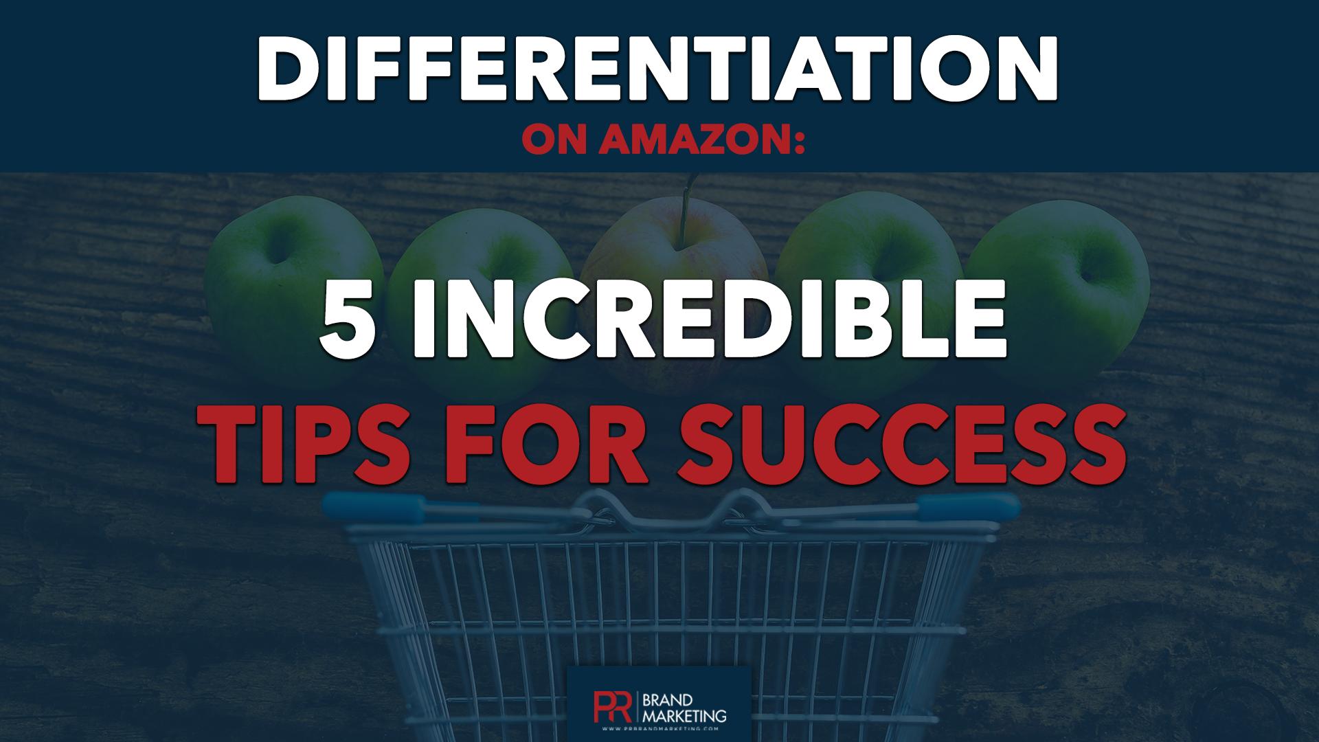 differentiation on amazon